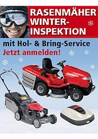 Winter-Inspektion für Rasenmäher und Rasentraktor