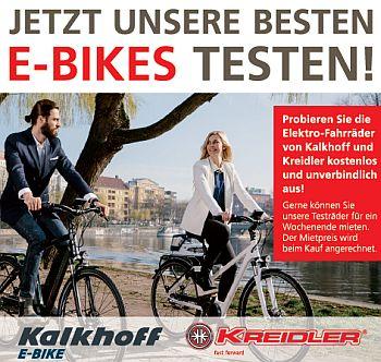 Jetzt unsere besten E-Bikes testen!