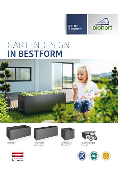 Biohort Flyer Gartendesign in Bestform