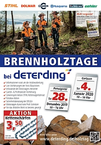 Aktions-Flyer Brennholztage 2019/20
