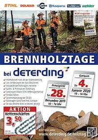 Aktions-Flyer Brennholztage 2018/19