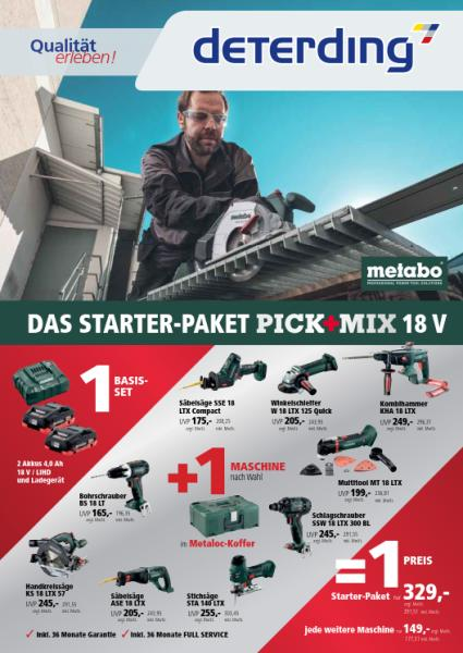 METABO PICK+MIX-Aktion - exklusiv bei Deterding