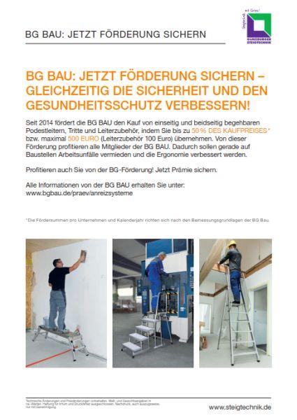 Steigtechnik - gefördert von der BG Bau