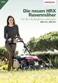 HONDA Broschüre Rasenmäher HRX 2019