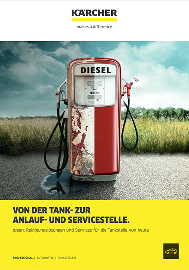 Info-Broschüre KÄRCHER Reinigungsideen für Tankstellen