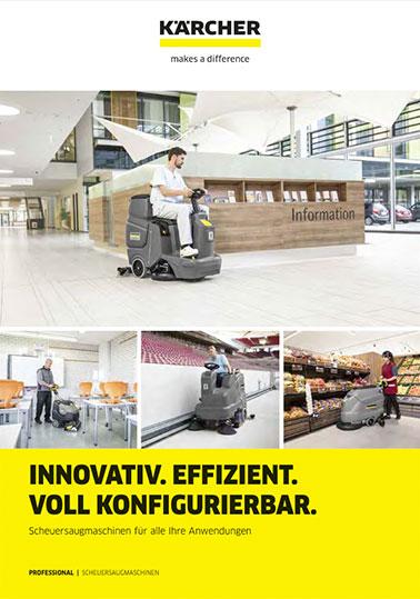 Info-Broschüre KÄRCHER Scheuersaugmaschinen