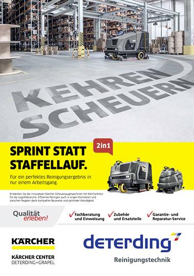 Aktions-Flyer KÄRCHER Kehren+Scheuern 2in1 / Logistik