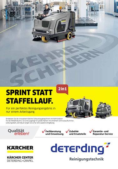 Aktions-Flyer KÄRCHER Kehren+Scheuern 2in1 / Metall