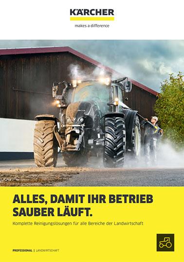 Info KÄRCHER Reinigungslösungen Landwirtschaft