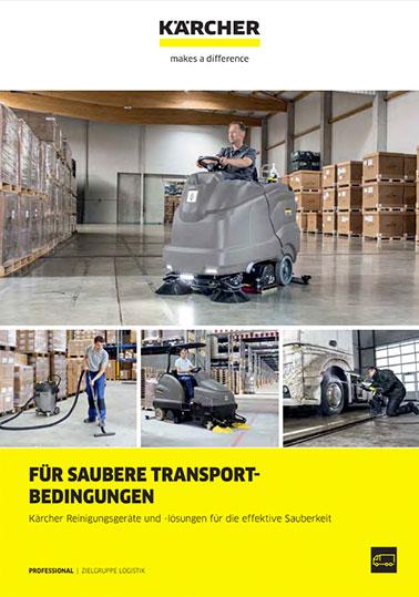 Info-Broschüre KÄRCHER Reinigungslösungen Logistik