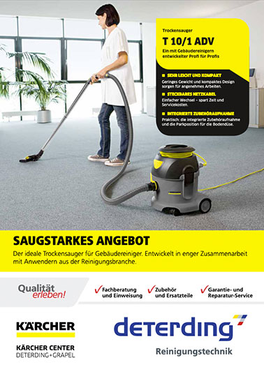 Aktions-Flyer KÄRCHER Trockensauger T 10/1 Adv