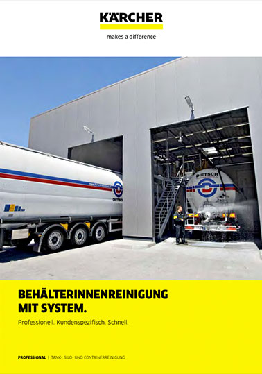 Info-Broschüre KÄRCHER Tankinnenreinigung