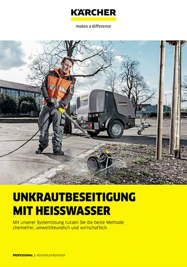Info-Broschüre KÄRCHER Wildkrautbekämpfung