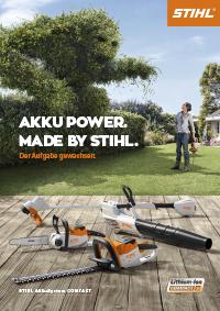 Broschüre zum STIHL AkkuSystem COMPACT