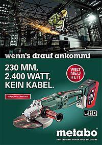 METABO 36-Volt-Akku-Winkelschleifer