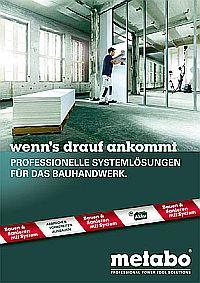 METABO Broschüre Bauhandwerk