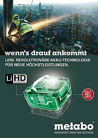 METABO LiHD Akkutechnologie-Broschüre