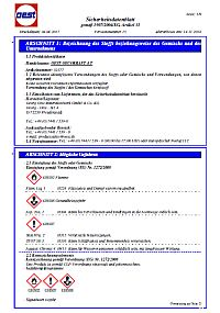 Sicherheitsdatenblatt OEST OecoKraft 4-Takt