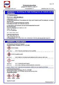 Sicherheitsdatenblatt OEST OecoMix 2-Takt