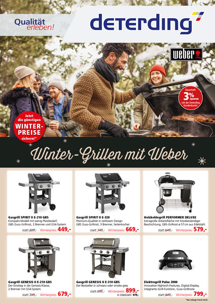 Aktionsflyer WEBER Winter 2020