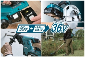 Kraftvolle Makita 36 V Akku-Power